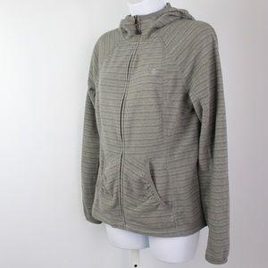 The North Face fleece full zip hoodie jacket